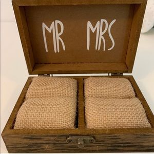 Rustic Mr and Mrs wedding ring box!